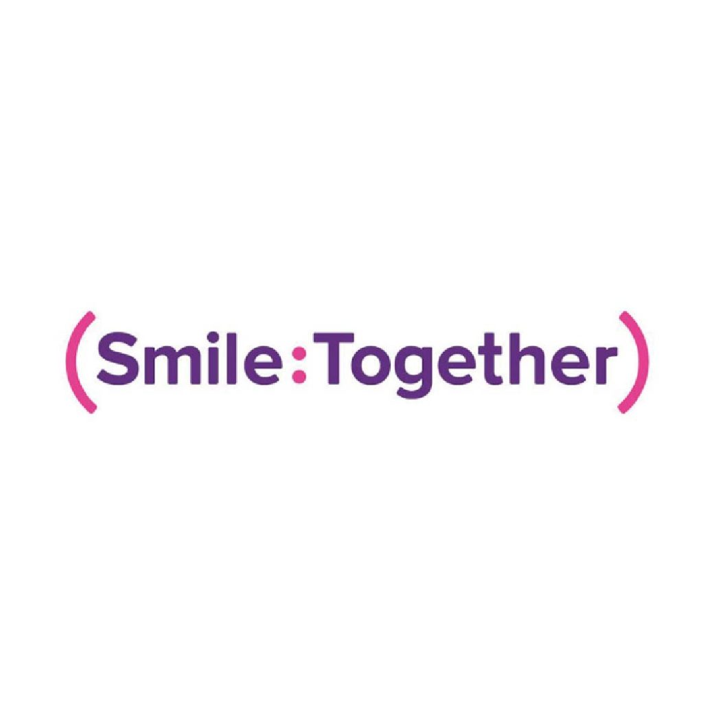 Smile Together logo pink and purple