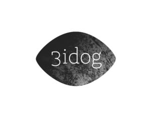 3idog logo grey and white