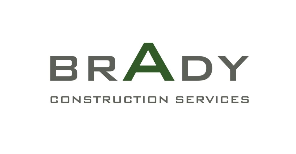 Brady Construction Services logo grey and green