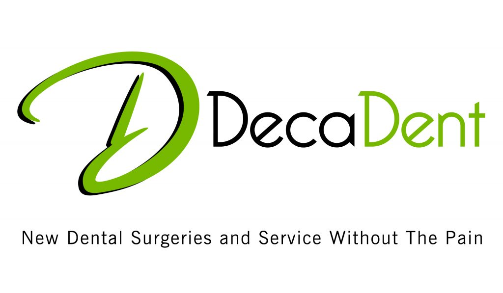 DecaDent logo black and green